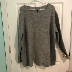 Lane Bryant Scalloped Sweater - Grey